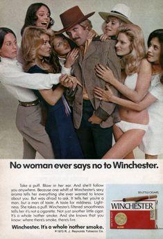 """""""Une #femme ne refuse jamais une Winchester""""  #Publicité #LNDP"""