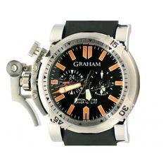 9e0a1ccf1c6 Relógio Réplica de Graham Chronofighter Oversize Diver Réplicas De Relógios