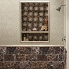 SomerTile 12x12-in Crackle Ice 1x2-in Handmade Glass/Ceramic Mosaic Tile (Pack of 5)