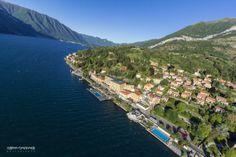 Cadenabbia, on air. Lake Como