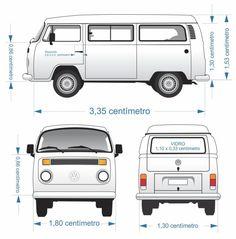 Volkswagen Kombi – Medidas Reais para Envelopamento | Arte no Corel Volkswagen Bus, Volkswagen Transporter, Vw Kombi Van, Kombi Camper, Vw Bus T2, Volkswagen Karmann Ghia, Campervan, Volkswagen Beetles, Motorhome