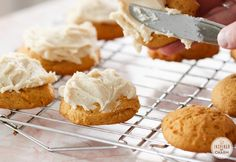 Frosted Pumpkin Cookies // Fall Cookie Week KitchenAid® Stand Mixer Hump Day Giveaway | Inspired by Charm