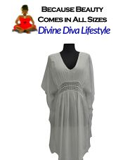 Beautiful Butterfly Kaftan with Crochet. Resort-Style Plus-Size Beachwear that fits to your curves at DivineDivaLifestyle.com