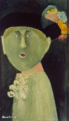 Hungarian Margit Anna, born Margit Sichermann, 1913~1991 Moving To Paris, Beret, 21st Century, Israel, Illustration Art, Faces, Paintings, Artists, Fine Art