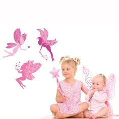 This Wall Decal Magic Fairies by Studio Luka will meke your kids' fantasies come true. This decal comes in a set of 3 vinyl wall stickers and creates a fun and magical environment in kids rooms.$39.99