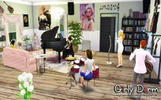 """from the Lot """"Girly Dorm"""" Music Room"""