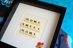 Personalised box frame, scrabble tiles phrase or message