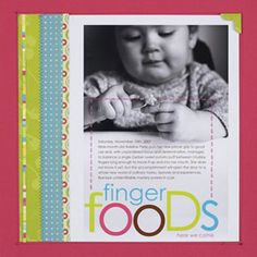 Print Your Title and type your journalling on a Digital Photo before adding to your traditional scrapbook page - hybrid scrapbooking!