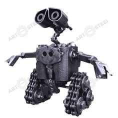 HandMade WallE Robot 9  Scrap Metal Sculpture by artfromsteel, $49.99