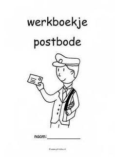 Werkboekje postbode 1 Post Office, Learning Activities, School, Kids, Image, The Letterman, Young Children, Boys, Children