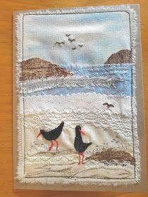 """This, that and everything inbetween: My """"free range"""" art cards Freehand Machine Embroidery, Free Motion Embroidery, Free Machine Embroidery, Free Motion Quilting, Fabric Postcards, Fabric Cards, Landscape Art Quilts, Creative Textiles, Stitch Pictures"""