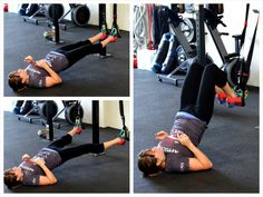 5. Glute Cherry Bombs - This move is a great glute bridge variation that also really works your glute medius and got its name from the fact that the leg movement looks like the leg movement in the core exercise Cherry Bombs.