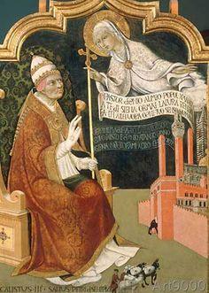 Sano+di+Pietro+-+The+Madonna+appears+to+Pope+Calixtus+III.