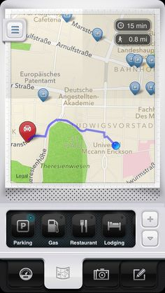 Parkbud Places opened - Parkbud iPhone App Design & UI,    iPhone, design, UI, app, mobile, apple, UX, ios, inspiration, http://www.parkbud.com