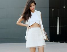 StarStyle » Fashion + Celebrity + Beauty » How To: Layer During Summer (White on White)
