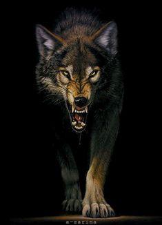 Волк - анимационные картинки и gif открытки
