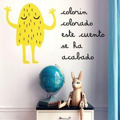 Vinilo infantil con la la leyenda colorín colorado este cuento se ha acabado. http://masquevinilo.com/infantiles/850-vinilo-infantil-colorin-colorado.html