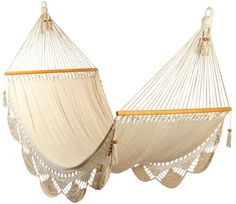 Romantic white hammock handmade of cotton by veronicacolindres, $75.00