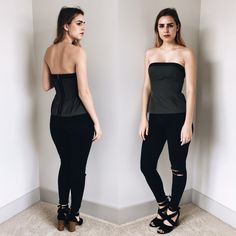 Peplum Strapless Top This top, is great for a night out on the town. Perfect to wear with a pair of jeans, shorts, or a skirt. Forever 21 Tops Crop Tops