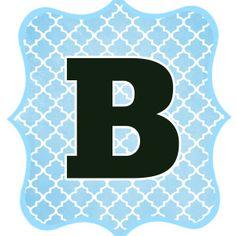 Blue and Black Printable Letters for Banners Free Printable Banner Letters, Boy Printable, Banner Template, Bebe Shower, Baby Shower Niño, Letter B, Black Letter, Alphabet Birthday, Baptism Banner