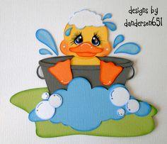 Duck Boy Girl Paper Piecing Set PreMade 4 Border Scrapbook Album danderson651
