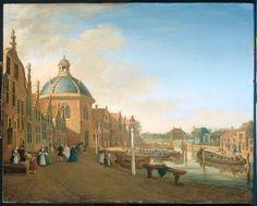 De kom in de trekvaart tussen Den Haag en Leiden in Leidschendam  Fargue, Paulus Constantijn 1756