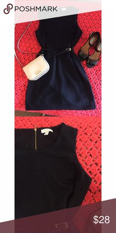 Beautiful dress Navy blue dress with matching belt , the tag says p/m so it should fit small or medium , medium thick fabric with lil stretch to it Charter Club Dresses Midi