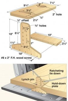 Woodworking help - Don't apply excess pressure when you're sanding. Using excessive pressure while sanding can cause your surface to get uneven or gauged. Just gently sand lightly in a motion that's circular. Truck Bed Storage, Kayak Storage, Learn Woodworking, Woodworking Plans, Woodworking Projects, Wood Jig, Wood Magazine, Shop Layout, Garage Workshop