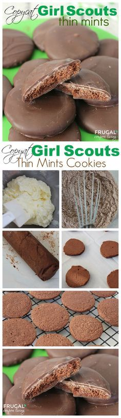 Copycat Girl Scout Cookies. Copycat Thin Mints. Enjoy this cookie recipe year-round. Recipe and Tutorial on Frugal Coupon Living. Girl Scouts Ideas. DIY Girl Scouts. Daisies. Brownies.