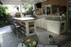 Outdoor Kitchen! #kitchen_ideas #porch #grill