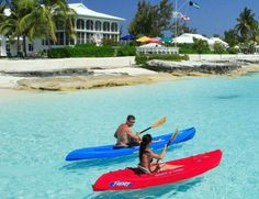 Kayaking at Cape Santa Maria Beach Resort and Villas, Long Island, Bahamas