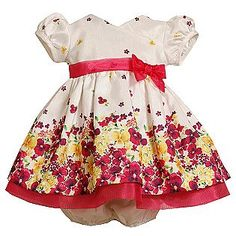 Holiday Editions- -Newborn Girl's Floral Easter Dress