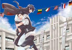 Reborn Katekyo Hitman, Hitman Reborn, Shounen Ai, Yamamoto, Boku No Hero Academia, Animation, Fan Art, Couple, Manga