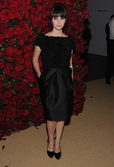 Felicity Jones Little Black Dress - Felicity Jones wore a textured LBD for the MOMA benefit in NYC.