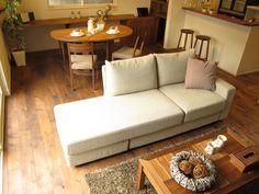半楕円形のダイニングテーブルを有効活用できるレイアウトを提案したコーディネートネート実例をご紹介 の画像 家具なび ~きっと家具から始まる家づくり~