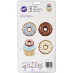 Top your sweets with sweets - use the Wilton Donut-Shaped Candy Mold to make tasty candy donuts to top cookies, cupcakes, brownies and other treats. Wilton Cake Decorating, Cake Decorating Supplies, Baking Supplies, Craft Supplies, Chocolate Favors, Chocolate Donuts, Chocolate Molds, Candy Cookies, Yummy Cookies