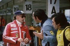 Mauro Forghieri Niki Lauda Mauro Forghieri Německo 1977 by F1history
