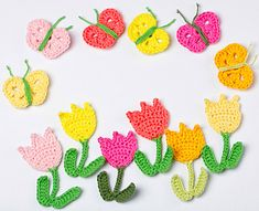 Ravelry: Tulips and Butterflies pattern by Tanya Shliazhko