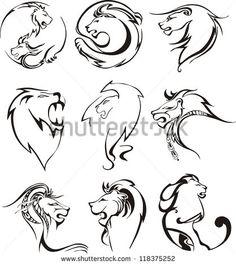 Lion Head Vector Stockfoto's, afbeeldingen & plaatjes | Shutterstock