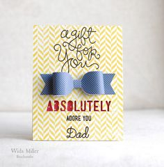 Created by Guest Designer Wilda using Simon Says Stamp Exclusive dies for the Masculine/Fathers Day challenge. June 2013