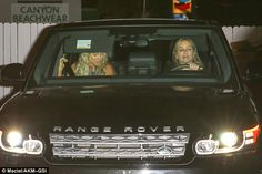 Fancy: After their meal, the 37-year-old headed home with a friend in an SUV...