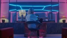 "Charlize Theron as Lorraine Broughton on the dynamic hotel room set in the action-thriller ""Atomic Blonde"". Atomic Blonde Aesthetic, Neon Aesthetic, Netflix, Sofia Boutella, Neon Room, Hotel Room Design, The Cheshire, Fitness Gifts, Cover Songs"