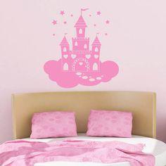 Fairy Princess Castle Quote Wall Art Sticker Wall Mural Wall Decal DIY Deco | eBay