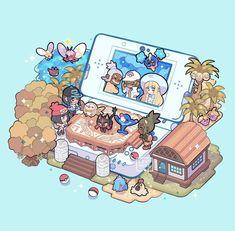 Pokemon Alola, Nintendo Pokemon, Pokemon Memes, Pokemon Fan Art, Cool Pokemon, Pokemon Moon, Pokemon Game Characters, Cute Pokemon Wallpaper, Kawaii Art