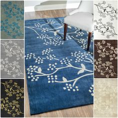 This handmade floral area rug is a stunning seasonal design ideal for spring. The area rug features shades of ivory and beige in a subtle pattern. The polypropylene rug is stain resistant, easy to clean, and has a durable canvas backing.