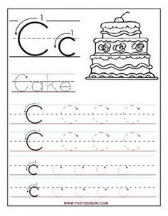 Beautiful Printable Letter C Tracing Worksheets For Preschool   Printable Coloring  Pages For Kids