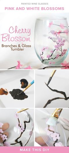 DIY painted wine glasses for summer sipping with tutorial.