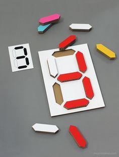 Digital Number Puzzle / DIY templates
