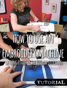 Urban Threads Tutorials -A first look at a new embroidery machine, from taking it out of the box to hooping and stitching that first project.