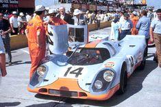 1970 12 Hours of Sebring - The Redman/Siffert Porsche 917 on the grid.